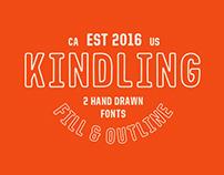 Kindling - Hand Drawn Font