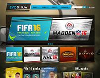 Developing gaming portal to EVONINJA