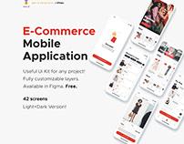 FREE | E-Commerce Mobile Application (Light+Dark)