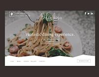 Befindisa - Restaurant Concept Website