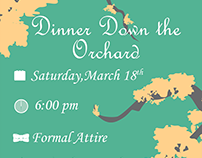 Dinner Down the Orchard Event Poster