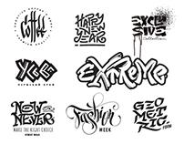 lettering B&W