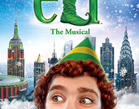 Poster illustration for 'Elf' at Madison Square Garden