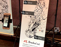 Augmented Reality Interactive ink exhibition @AWE 2019
