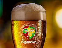Trigueña Beer Label