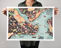 CITIx60 Istanbul Map Illustration