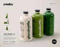 Glass Bottle Mockup Set v.2