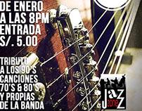 Afiche de tocada en el Jazz Zone