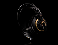 Headphones on Black