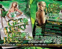 Get Lucky 4 St. Patrick's Day Green & White Party Flyer
