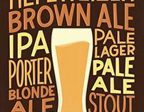 Beer Varieties - Hand Lettered Poster