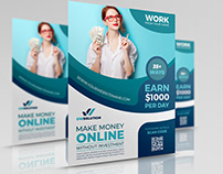 Make Money Online Flyer Template