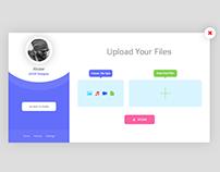 Upload file UI Design.