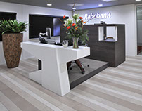 Custom furniture, Rabobank Dordrecht, the Netherlands