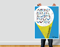Alphabet Poster with Mock Up