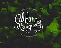 California Microgreens Lettering Logo Design