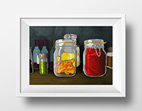 Spice Jars Illustration