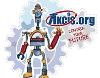 AKCIS.org Jr Robot Sticker