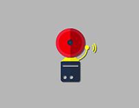 Alarm Vector Icon Animation