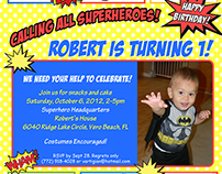 Robert's First Birthday - Special Occassion