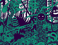 forest looking at me. postcards