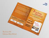 Création brochure A4 pour les éditions Albin Michel - P