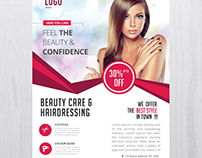 Beauty Care - Free PSD Flyers Template