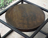"""Industrial table style """"Cercle"""""""