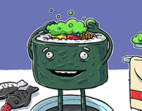 Sushi Bath: Web Illustration