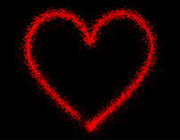 Valentines Heart Particles and Lights