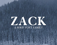 Zack - Free Serif Font Demo