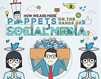 Social Media Infographic, Sketch Mockup and Final.