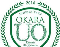 Logo Design: University of Okara, Monochrome