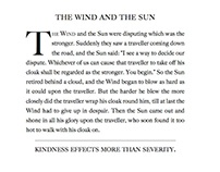 The Fable of the Wind and the Sun