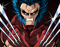 Wolverine Unmasked Brown costume Art Print