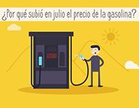 ¿Por qué  subió el precio de la Gasolina?