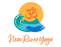 New River Yoga Logo & Sign