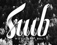 Woodland Belt Lettering
