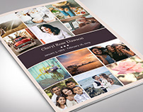 Memories Funeral Program Word Publisher Template