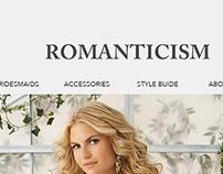 Bridal website - homepage mockup