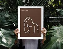 Animal Minimal — illustration, prints&posters series