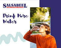 Social Media Designs for Salsabeel Water