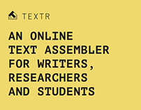 TEXTR – Web tool for structured writing