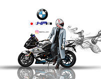 japan motorcycle rider bmw hp2