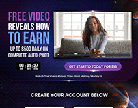 Landing Page Design for e-Money Platform