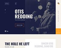 Otis Redding webdesign 2018