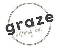 Graze biltong bar logo mock ups