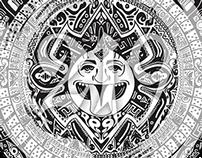 Aztec/Maori Circle - 219Design Originals