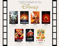Typography in Disney Poster