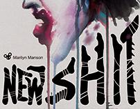 Watercolor & Graphic Design - Marilyn Manson